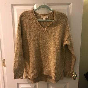 MICHAEL KORS gold pullover sweater